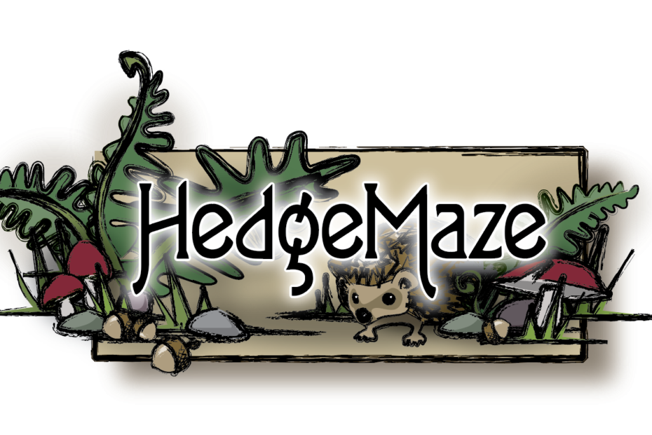 Title screen of HedgeMaze game